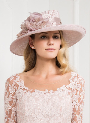 Tina Townsend Mother of the Bride pink hat by John Charles