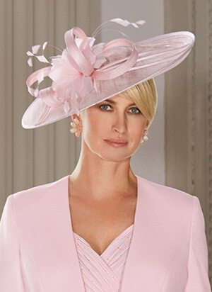 Tina Townsend Mother of the Bride pink fascinator by Condici