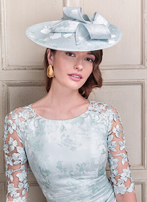 Tina Townsend Mother of the Bride light blue hat by John Charles
