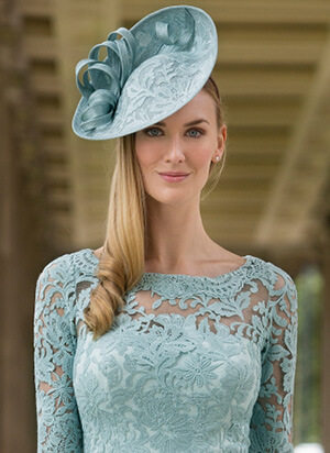 Tina Townsend Mother of the Bride seamist hat by John Charles