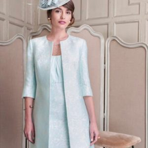 Tina Townsend Mother of the Bride mint / sky dress by John Charles